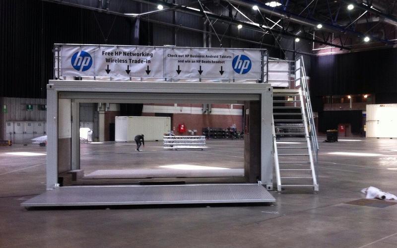 HP beursstand opbouw